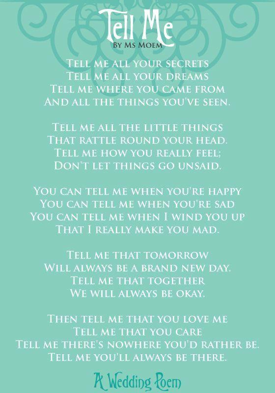 Wedding Quotes : Tell Me – A Wedding Poem | Ms Moem | Poems  Life