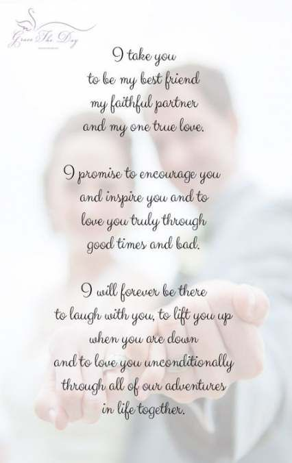 Ideas Wedding Vows I Promise Marriage